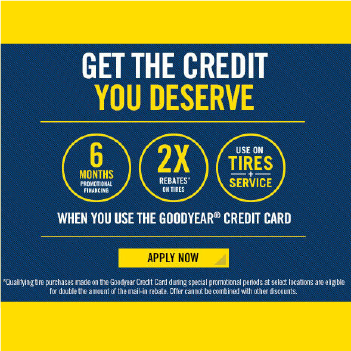Apply for The Goodyear Credit Card Today at Alexandria Tire Pros in Alexandria, KY 41001